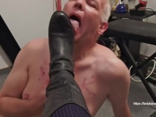 Sax Sax Vido Dirty Boots Cleaning, Feet Exclusive Amateurs