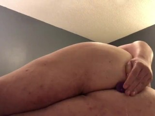 Tight Anal virgin plays with plug