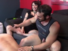 Alpha male humiliates beta male in front of a girl
