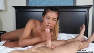 Asian Chanel Lee-Cock milking POV