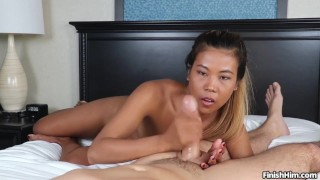 Asian leecock chanel milking pov asiatic cum