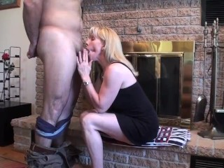 A Cougar Fireplace Suck & Swallow With One Of My Young Pornhub Subscribers