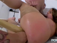 Getting a blowjob and fingered in the ass