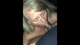 Teacher gives blowjob to College student