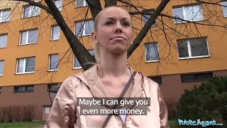 Public Agent Married blonde is unfaithful for promise of cash