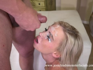 Astrid Star blowjob with huge facial cumshot with Aaron Wilcox