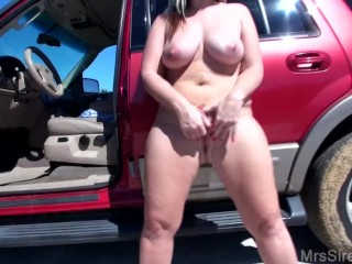 Houston Hotwife Wife Stuffing Panties And Naked Outside, Big Ass Big Tits Milf Pornstar