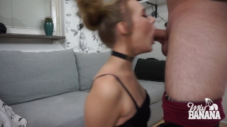 Miss my banana face fuck blowjob gag