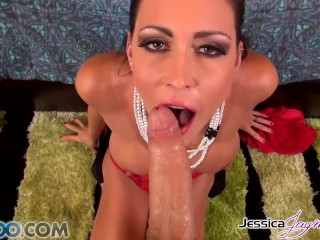 Watch Jessica Jaymes sucking a moster cock, big boobs