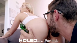 Preview 4 of HOLED Big booty blonde Kate England fits thick dick in her tight ass