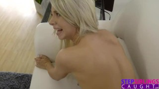 Hot Step Sis Playing Do Not Cum Challenge With My Cock Blowjob femdom