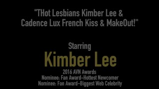 Hot Lesbians Kimber Lee & Cadence Lux French Kiss & MakeOut! Orgasm solo