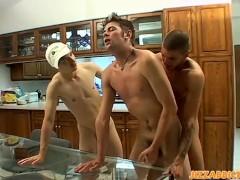 Krist Cummings has sex with Shane Allen and Tristan Matthews
