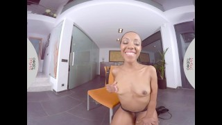 Hot fucks dildo sweet pussy her girl with virtual ebony taboo small trimmed