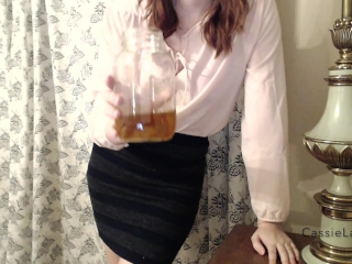 POV Thief Coworker Caught and Has to Drink Piss!