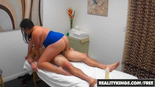 RealityKings Chubby girl Jasmine gives a massage and happy ending to clien  big tits riding bbw asian realitykings blowjob chubby massage rub handjob curvy oil big boobs rub down