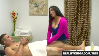 RealityKings Chubby girl Jasmine gives a massage and happy ending to clien