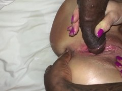 My friends wife creaming all over my BBC