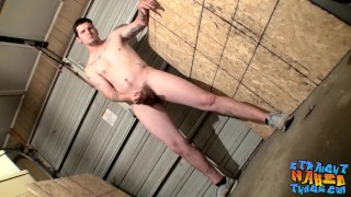 Hung dude Lex Lane gets straight to cock jerking action