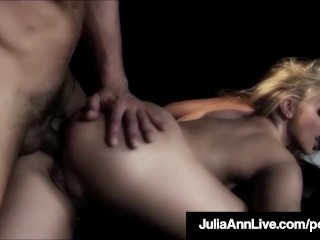 Video World Sex Com Milf Queen Julia Ann Gets Anal Fucked On Stage! Big Tits Blonde