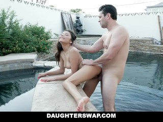 DaughterSwap – Asian Teen & Best Friend Take Turns Fucking DADS