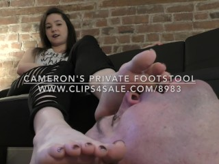 Cameron's Private Footstool - DreamgirlsClips.com