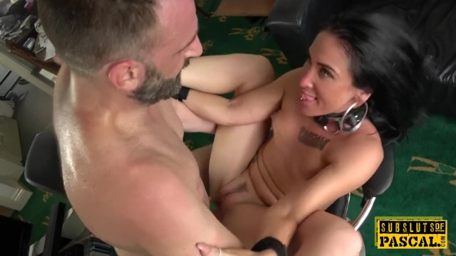 Uk sex chatline - Handcuffed uk milf edged while cockriding dom