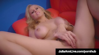 World Famous Milf Julia Ann Rides Stripper Pole & Rubs Cunt! Ass ass