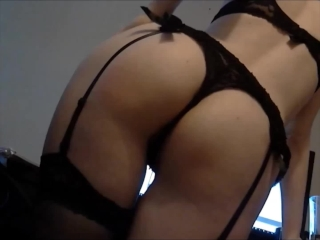 Girlfriend teasing and showing off her sexy ass