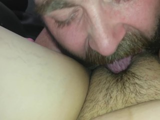 Slap that tight pussy and eat it
