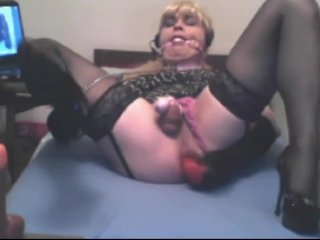 locked and gagged sissy on camshow