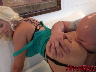 Beautiful Alena Croft takes it in her butthole!