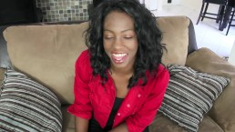 black girl gives me a great blowjob