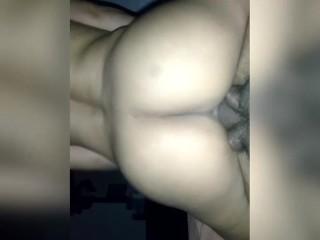 Ebony booty riding dick