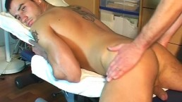 Fabio Handsome delivery guy's big dick to touch in spite of him.