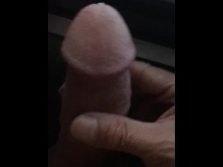 Big and thick dick jack off in peep show booth