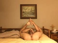 Jerking off my rock hard cock