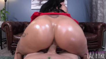 Lily Lane's Oiled Ass Works a Dick -Laz Fyre