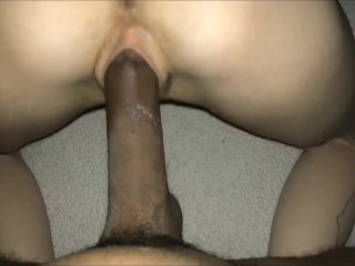 Wakes teen up to a bbc creampie interracial
