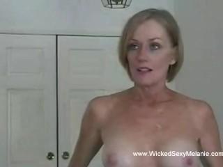 Amateur Mommy Sucks Down The Penis