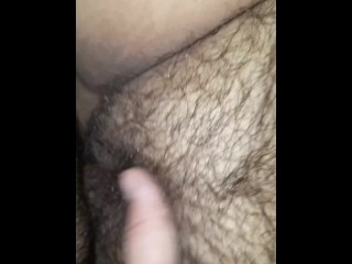 Hairy kitty getting fucked by tiny cock