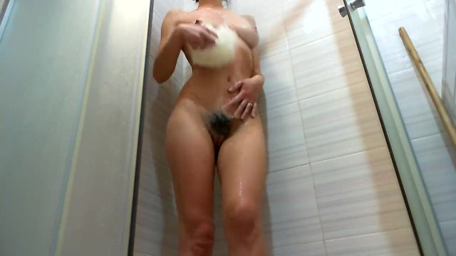 Hairy pee videos Custom video.pissing hairy pussy whit foam in shower. big tits sexy legs