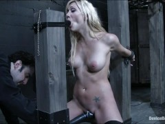 Samantha Sin immobilized and made to orgasm