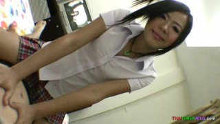 Preview 2 of Going balls deep inside shy Asian chick