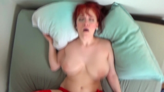 Redhead hot in creampied gets stockings amadani tits