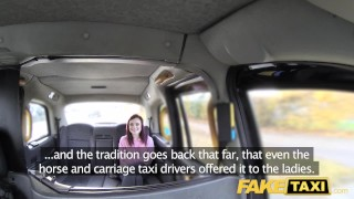Fake Taxi American redheads tight asshole fucked by dirty driver Jizz party