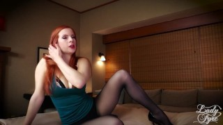 Quality Time with Stepmother -Lady Fyre Femdom Taboo  olivia fyre point of view seduction stepmother sheer redhead femdom mom pantyhose kink butt heels mother stockings stepmom lady olivia fyre
