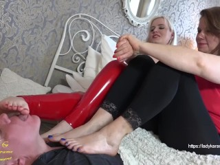 Slapped by Mother and Daughter - watch full movie at LadyKarame.net