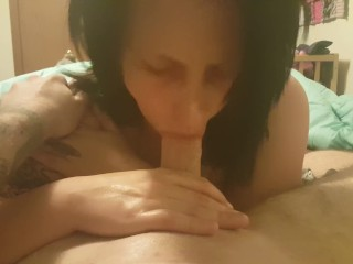 MILF Gives first time blowjob
