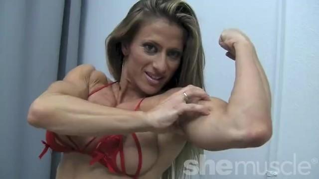 Sexy woman bodybuilders - Sexy female bodybuilder maria garcia strips off her dress